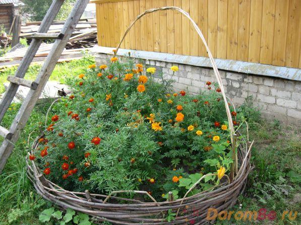 Плетеные вазоны для сада